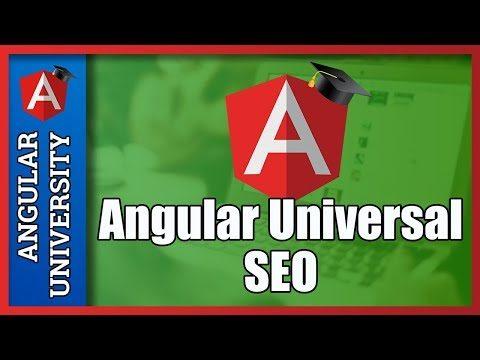 💥 Angular Universal SEO  – Search Engine Optimization