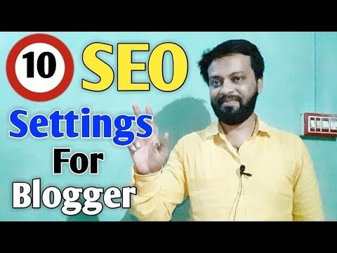 """{HINDI} Top 10 Recommended SEO Settings for New Blogger """"search engine optimization techniques"""""""
