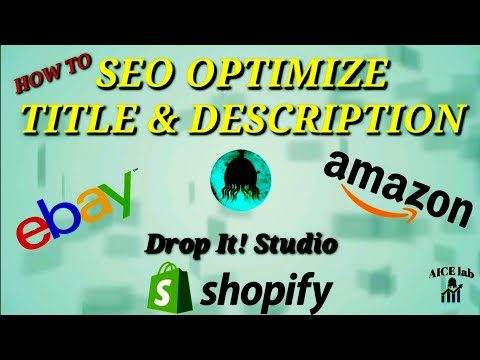SEO Optimization for Shopify 🔥 How to OPTIMIZE eBay Titles and Descriptions for better ranking